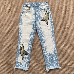 LF Carmar Juliet Acid Wash Embroidered Jeans